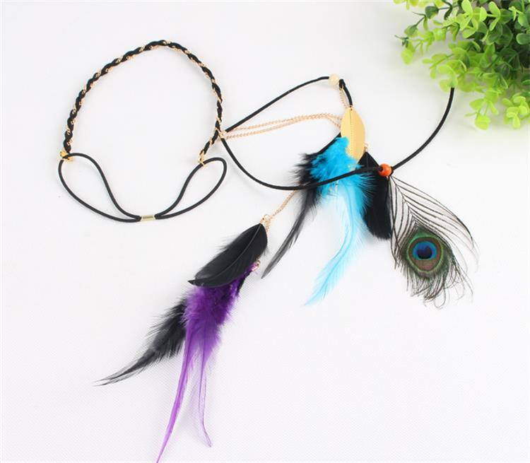8890-862075db8e822eac3bfda2f96417488c Beautiful Indian Head Jewelry With Peacock Feather Accent