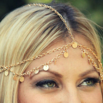 Boho Style Chain With Coin Pendant Head Jewelry