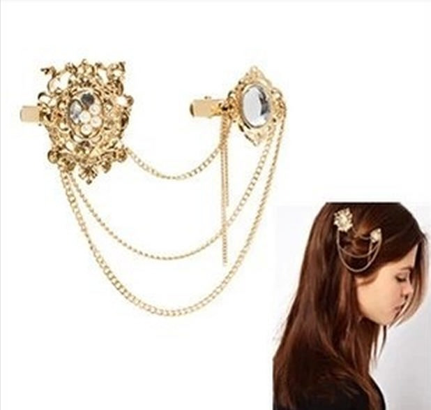 8895-c476493d90c63d96b90b384070cc383d Crystal And Pearls Clips With Head Jewelry Chain For Women