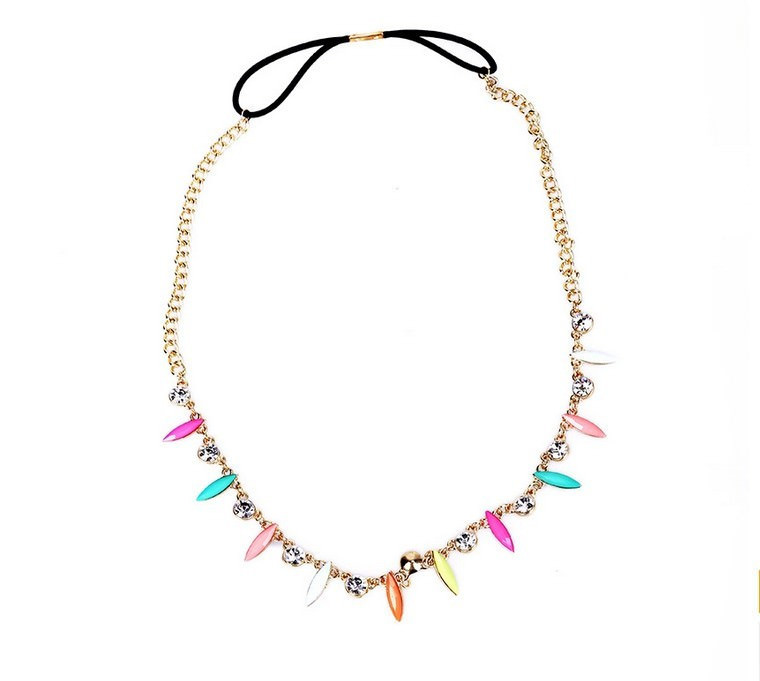 8896-2c646229b415ba288e5a379bdc0e2161 Retro Celebrity Head Jewelry Chain With Colorful And Crystal Pendants