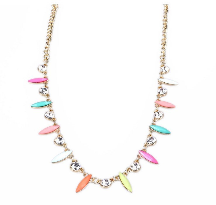 8896-4185660857b5b8e2c12373cdfd859527 Retro Celebrity Head Jewelry Chain With Colorful And Crystal Pendants