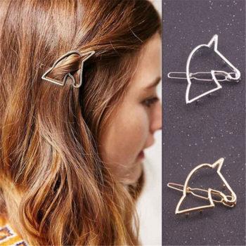 Unique Hollow Unicorn Hair Clip Head Jewelry For Women