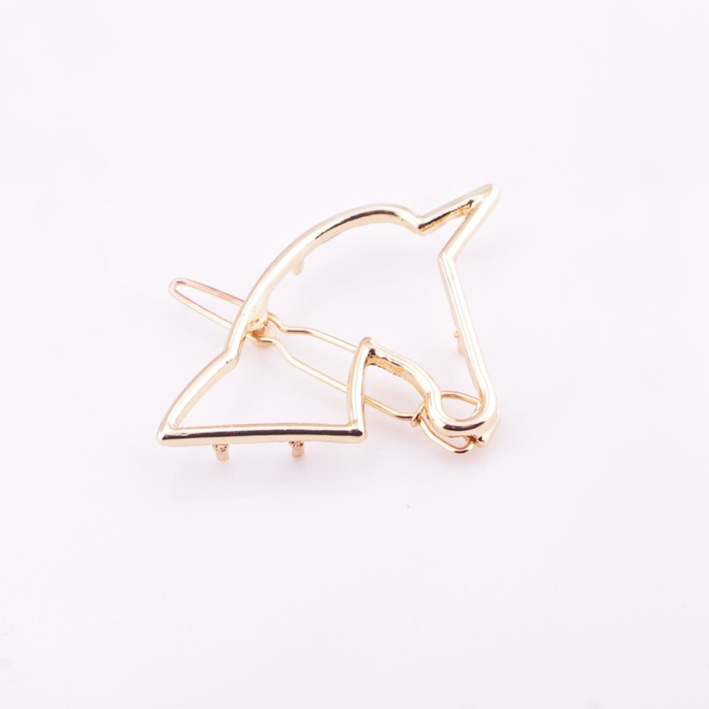 8898-9a7511198b6bed6ca802c345baee6f69 Unique Hollow Unicorn Hair Clip Head Jewelry For Women