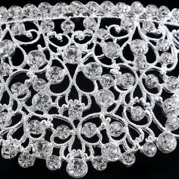 Elegant Bridal Crystal Designed Crown Head Jewelry