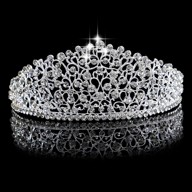 8903-609bb279fe1b7612d97c7da86e318fe9 Elegant Bridal Crystal Designed Crown Head Jewelry