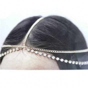 Simple Chain Head Jewelry With Accent Rhinestone Chain