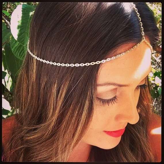 8905-17be5b251545fbe1251306410573d4d5 Simple Silver Plated Head Jewelry Chain For Women