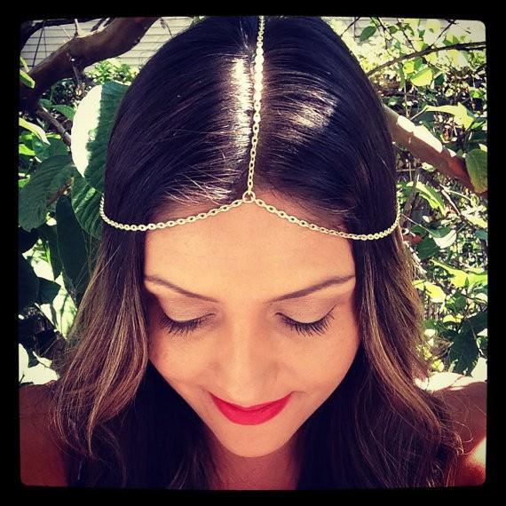 8905-1aa323e6f45c4298aa9c3bc31e9a64bd Simple Silver Plated Head Jewelry Chain For Women