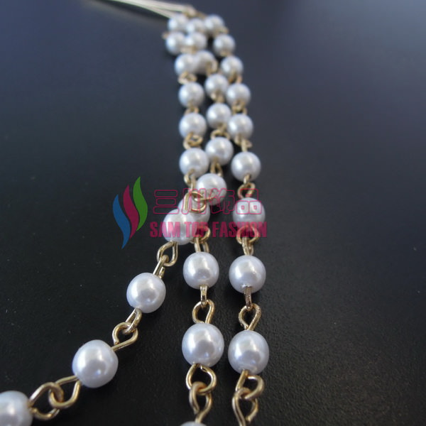 8907-179617c3a2561cd6438974eee87e3376 Classy String Of Faux Pearls Hair Pin Head Jewelry