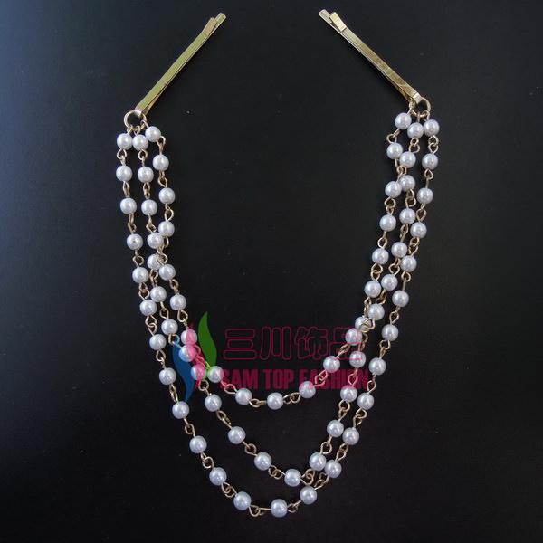 8907-aee75de37c1e9b42972f6022a544bcd6 Classy String Of Faux Pearls Hair Pin Head Jewelry
