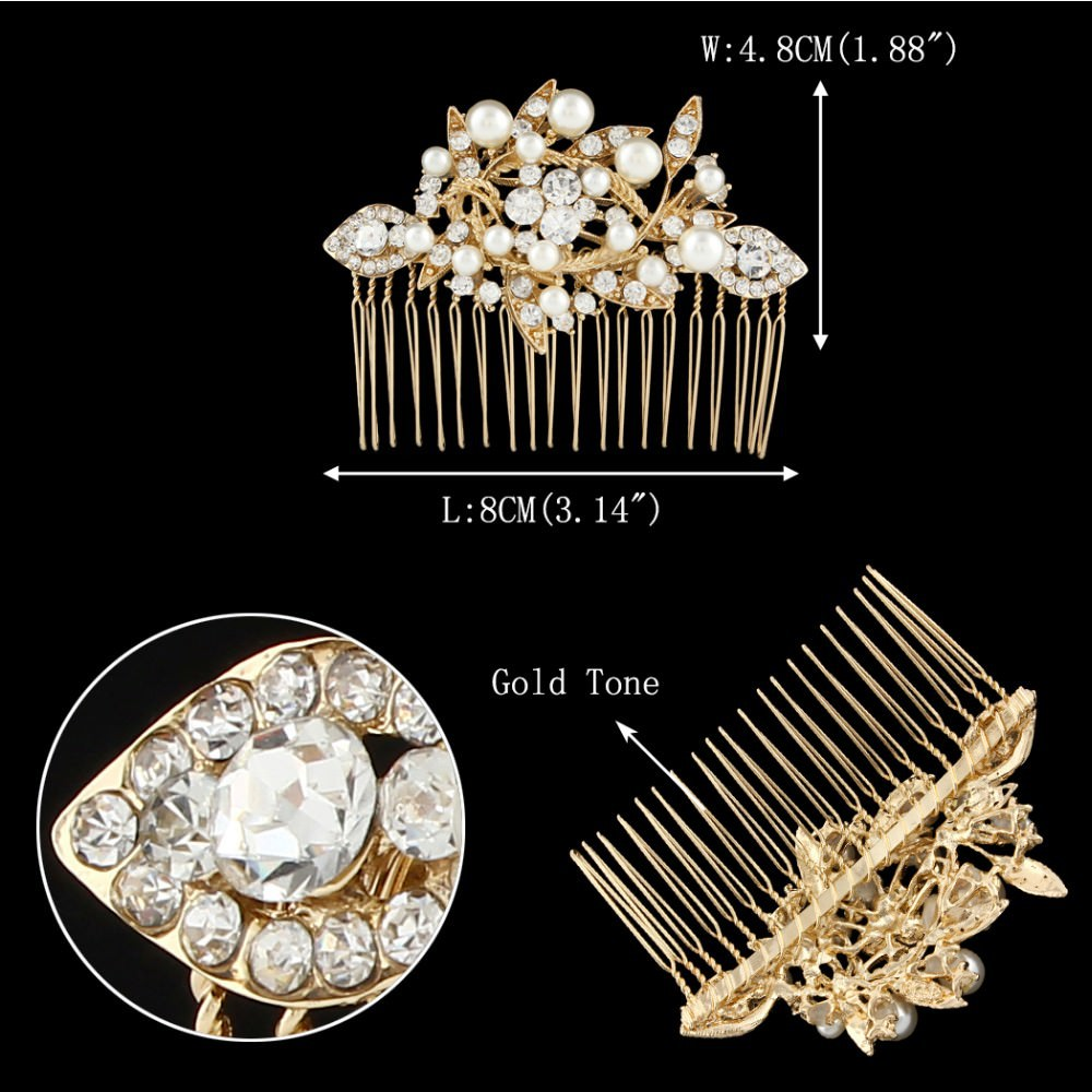 8908-7003a349f2435fff169bbd043b4c3aa2 Captivating Pearl And Austrian Crystal Comb Head Jewelry
