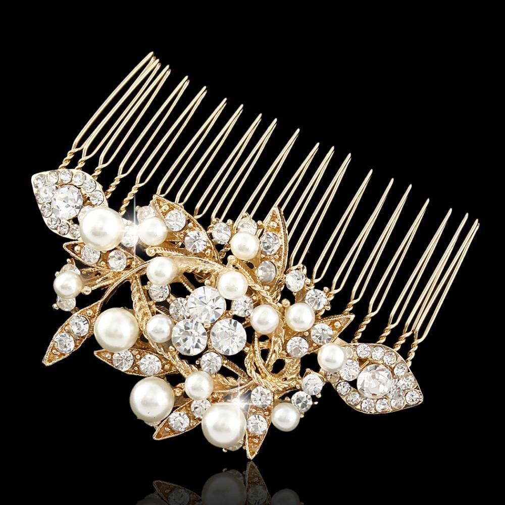 8908-9e999db2c0c5c102326b32ede3f98763 Captivating Pearl And Austrian Crystal Comb Head Jewelry