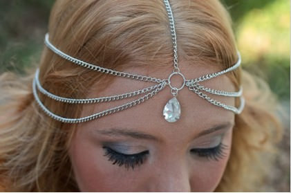 8911-d2148696154dffe833f58b25a8eb77aa Boho Head Jewelry Chain With Teardrop Shaped Crystal Pendant