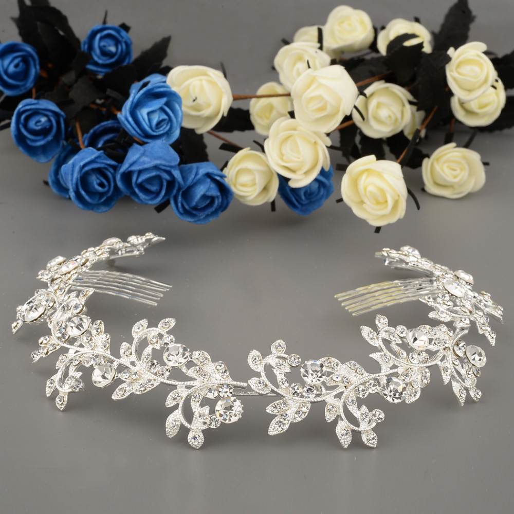 8912-245f76b54847b69c95e8b50e1d206dd0 Vintage Spring Flower Bridal Hair Comb Head Jewelry