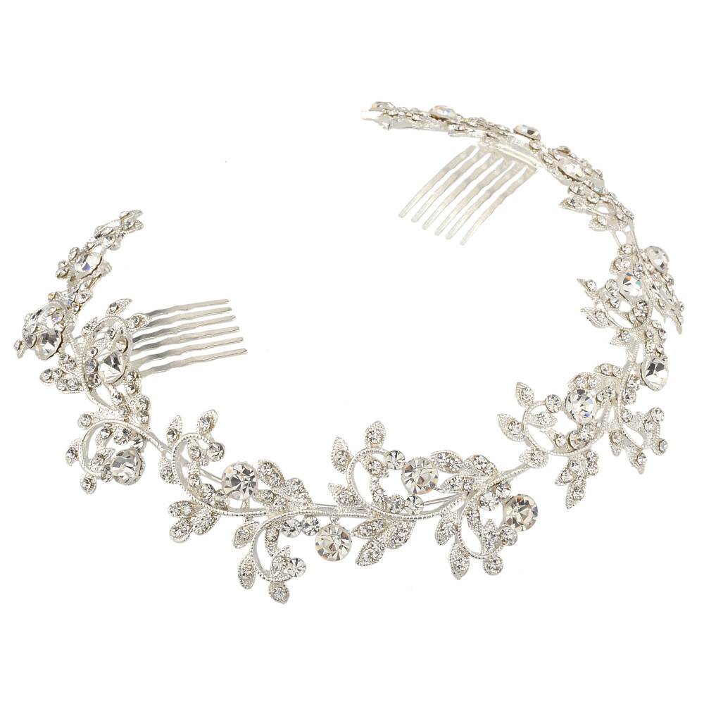 8912-6a5d4633bbbb24584c829261d9702581 Vintage Spring Flower Bridal Hair Comb Head Jewelry