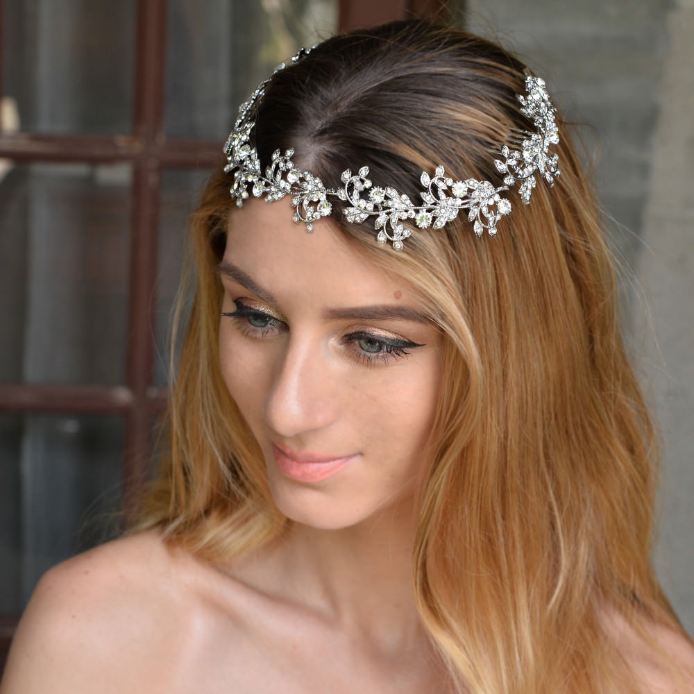 8912-911f43d8e51c2e401d5ccd8a20e88084 Vintage Spring Flower Bridal Hair Comb Head Jewelry
