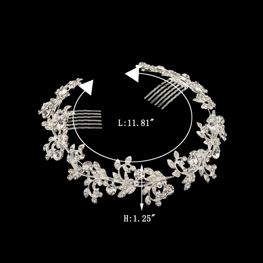 8912-a1c365711e0879a5621bc5215ee887c3 Vintage Spring Flower Bridal Hair Comb Head Jewelry