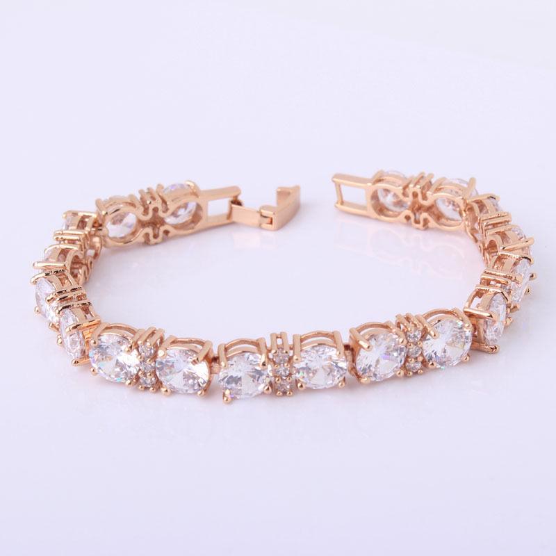 Stunning Crystal Chain Tennis Bracelet Jewelry For Women