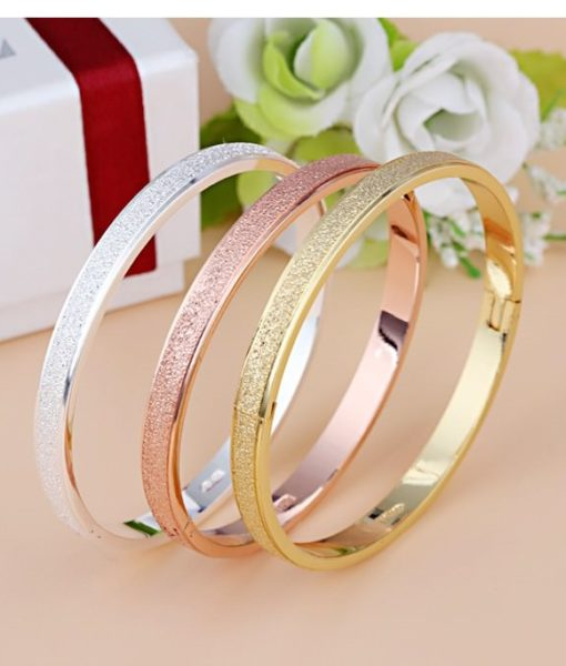 Stylish Frosted Bangle Bracelet Jewelry For Women
