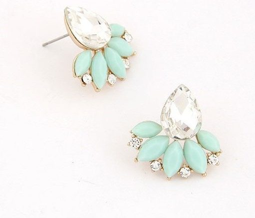 Exquisite Retro Design Push Back Cubic Zircon Earring Jewelry
