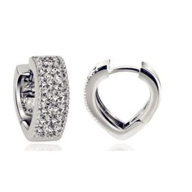 Sophisticated Wedding Fashion Crystal Heart Earring Jewelry