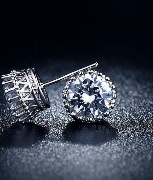 Fashion Cubic Zirconia Push Back Earring Jewelry