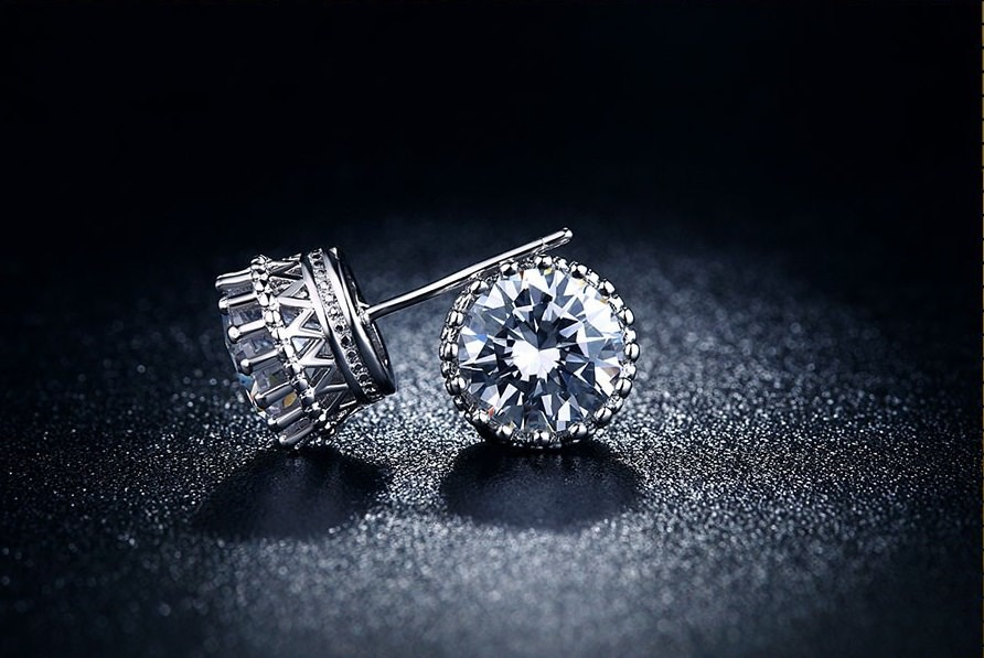 Fashion Cubic Zirconia Push Back Earring Jewelry