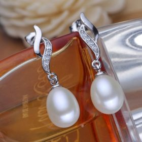 Mother's Day Gift Natural Pearl Drop Stud Earring Jewelry