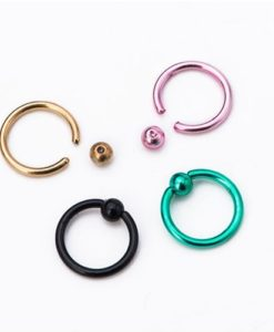 Stainless Steel Captive Bead Ring Jewelry