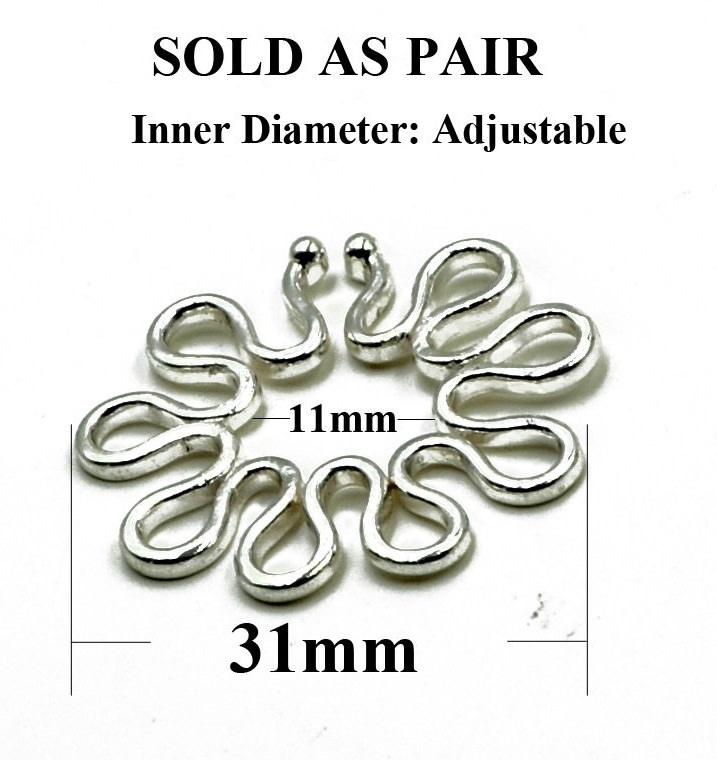 11703-97d95395379a04ef98d90d9926d40695 1 Pair Adjustable Faux Shield Type Nipple Ring Body Jewelry