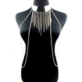 New Fashion One Piece Sexy Tassel Collar Body Chain Harness Jewelry