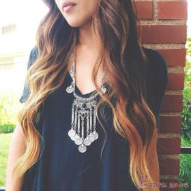 Long Bohemian Antique Silver Coins and Tassels Necklace For Women