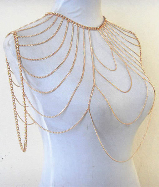 Tiered Charming Shoulder Chain Body Jewelry For Women