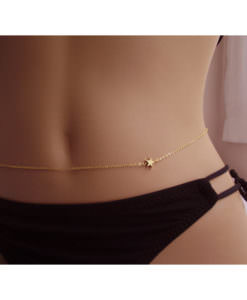 Simple European Belly Chain Jewelry With Star Shaped Accent