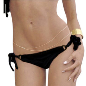 Sexy Double Layer Bikini Belly Chain Jewelry In Silver Or Gold
