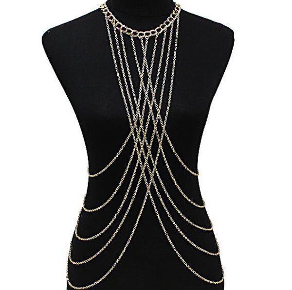 Sexy Long Body Chain Drape Jewelry Necklace