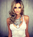 Large Bohemian Coin Choker Necklace With Crystal Pendant