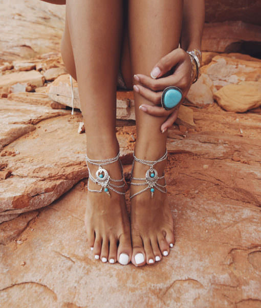Boho Multi Chain Layer Tassle Anklet Jewelry