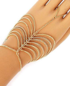 Trendy Ladder Chain Hand Bracelet