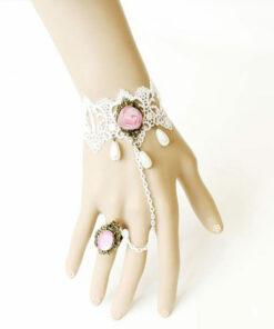 Vintage White Lace Bracelet