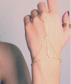 Hot Gold Plated Chain Hand Jewelry Harness