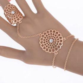 Chain Hand Harness Jewelry With Mandala Accent