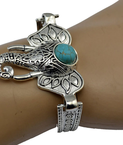 Silver Bracelet Jewelry With Various Turquoise Accent