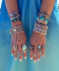 Vintage Bohemian Tribal Silver Or Gold Plated Coachella Bracelet