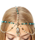 Bohemian Inspired Head Jewelry With Beads, Pearls And Rhinestones