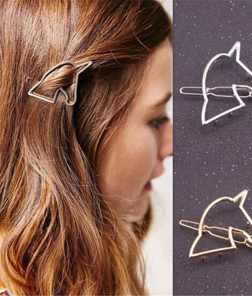 Hollow Unicorn Hair Clip