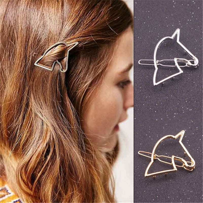 Hollow Unicorn Hair Clip