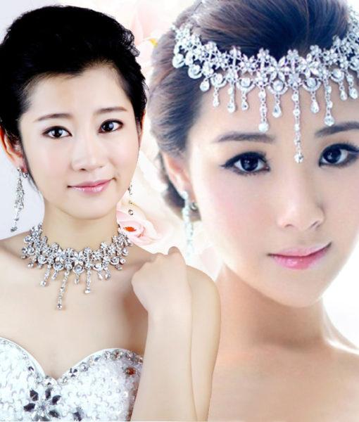 Crystal Floral Bridal Head Jewelry