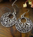 Tibetan Silver French Hook Earring