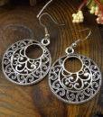 Tibetan Silver French Hook Earring